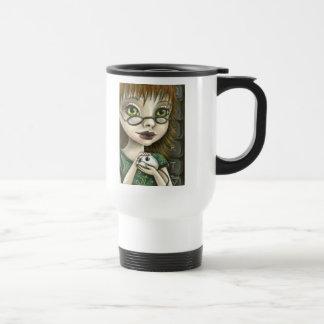 geek girl and her pet mouse mug