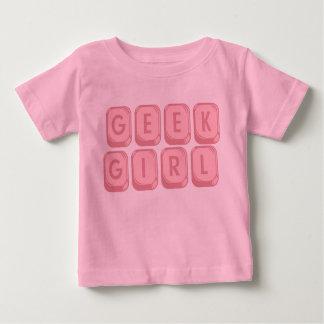 Geek Girl Pink Keyboard Baby T-Shirt