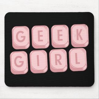 Geek Girl Pink Keyboard Mousepad