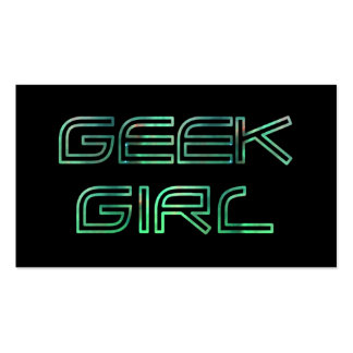 Geek Girl Profile Card Double-Sided Standard Business Cards (Pack Of 100)