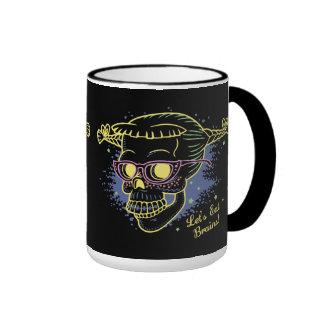 Geek Girl Zombie Skull Mugs