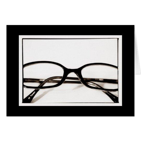 Geek Glasses Blank Card