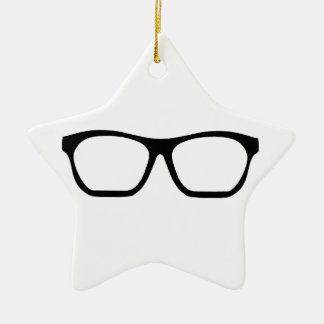 Geek Glasses Ceramic Star Decoration