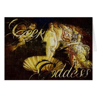 Geek Goddes Botticelli the Birth of Venus Note Card