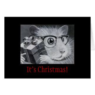 Geek Hamster Christmas Card