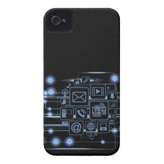 Geek Hi-Tech Concept Initials Blackberry Bold Case