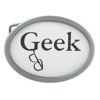 Geek Horn Rimmed Glasses Belt Buckle