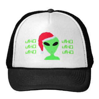 Geek Humor Fun Alien Santa ufHO Christmas Cap Hats