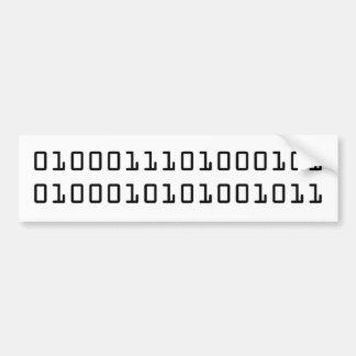 GEEK in binary code Bumper Stickers
