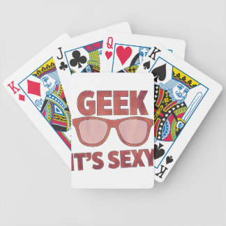 geek it's sexy bicycle playing cards