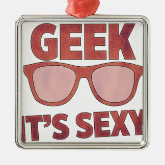 geek it's sexy christmas ornament