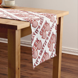 geek it's sexy short table runner