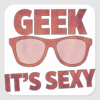 geek it's sexy square sticker