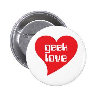 Geek Love by Genepool Design 6 Cm Round Badge