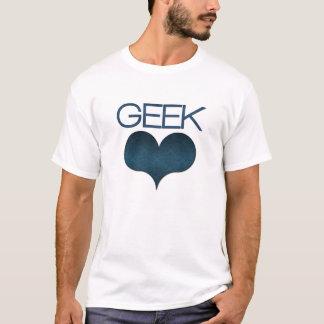 Geek Love (Heart) Light Men's Tee, Dark Blue T-Shirt