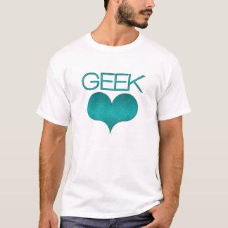 Geek Love (Heart) Light Men's Tee, Turquoise T-Shirt