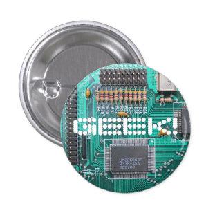 GEEK! motherboard, circuit board photo 3 Cm Round Badge