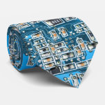 Geek Nerd Computer Geek Circuit Board - blue Tie