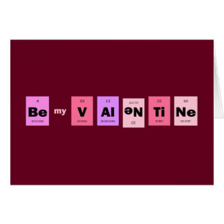 Geek Nerd Science Be My Valentine Card