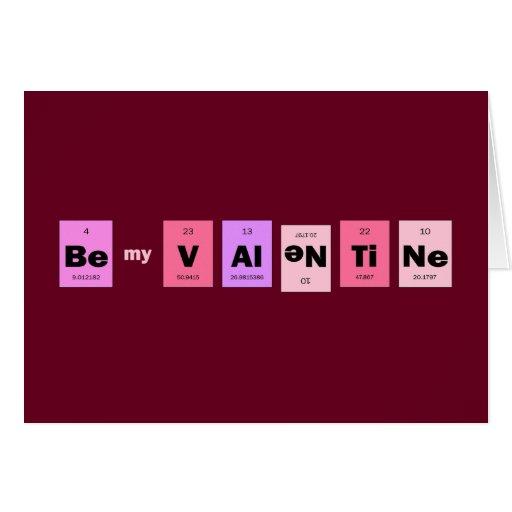 Geek Nerd Science Be My Valentine Greeting Cards