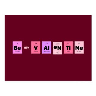 Geek Nerd Science Be My Valentine Postcard