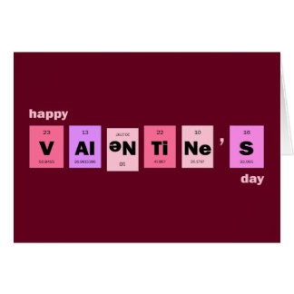 Geek Nerd Science Happy Valentine's Day Card
