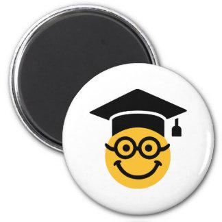 Geek nerd smiley 6 cm round magnet