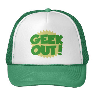 Geek Out retro teen Mesh Hat