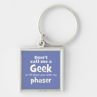 Geek phaser wf Silver-Colored square key ring