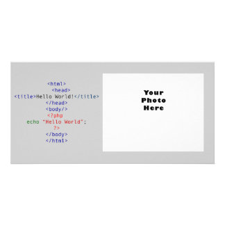 Geek php Greeting Photo Card Template