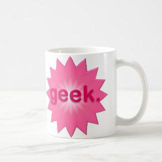 Geek Pink Basic White Mug