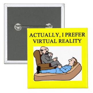 geek psychology 15 cm square badge