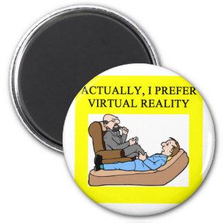 geek psychology 6 cm round magnet