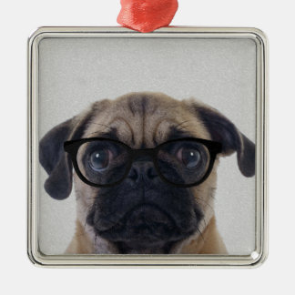 Geek Pug Christmas Ornament