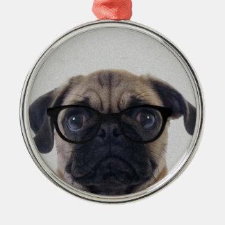 Geek Pug Christmas Ornament