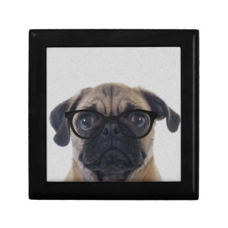 Geek Pug Small Square Gift Box