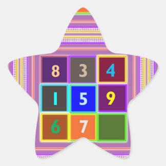 GEEK Quiz Games for Kids Star Sticker