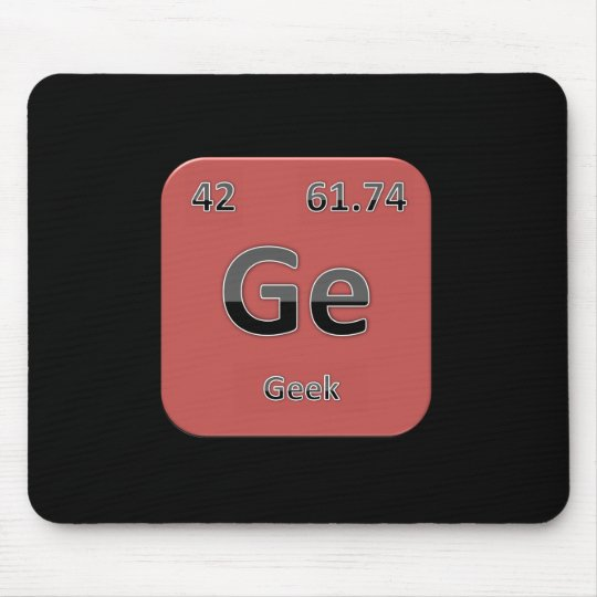 Geek Red Mouspad Mouse Mat