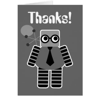 Geek Robot Thank You Cards