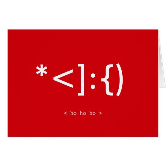 Geek Santa Emoticon Christmas card