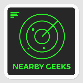 Geek scanner square sticker