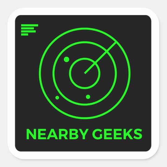 Geek scanner square sticker