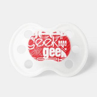 Geek; Scarlet Red Stripes Pacifier