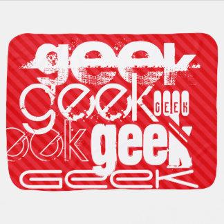 Geek; Scarlet Red Stripes Pramblanket