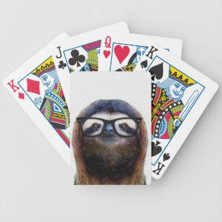 Geek Sloth Bicycle Playing Cards
