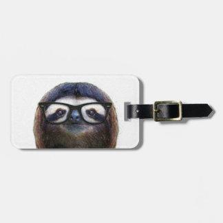 Geek Sloth Luggage Tag
