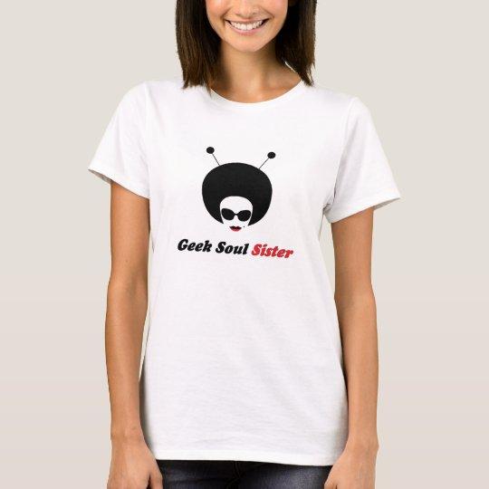 Geek Soul Sister w/ words Comfort Tee for Ladies