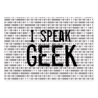 Geek speak large business cards (Pack of 100)