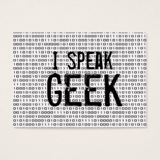 Geek speak business card