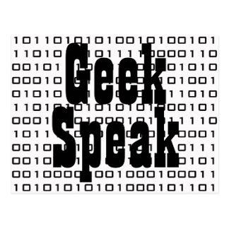 Geek, Speak Postcard